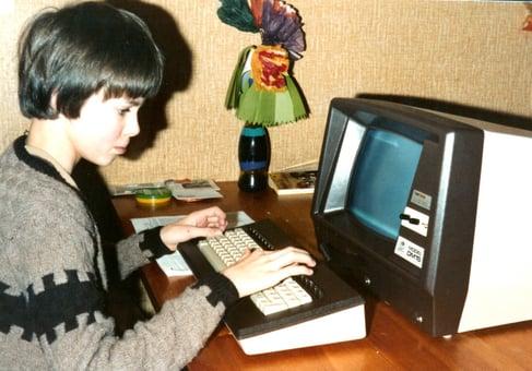 Elmar Kolkman met zijn eerste computer